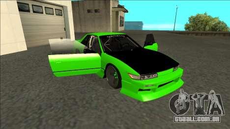 Nissan Silvia S13 Drift Monster Energy para vista lateral GTA San Andreas