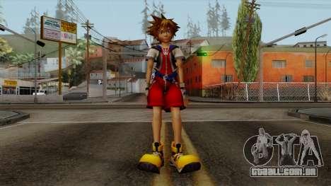 Kingdom Hearts 2 - Sora KH1 Costume para GTA San Andreas segunda tela