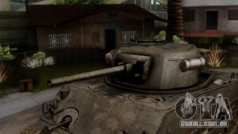 M4 Sherman from CoD World at War para GTA San Andreas vista direita
