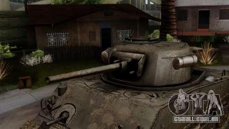 M4 Sherman from CoD World at War para GTA San Andreas vista direita