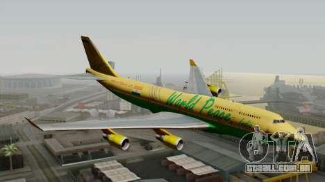 Boeing 747-400 World Peace para GTA San Andreas