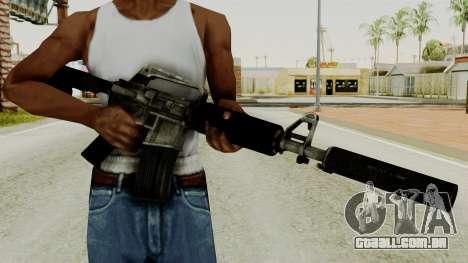 M4A1-S Basilisk para GTA San Andreas terceira tela