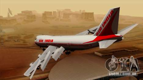 Boeing 747-237B Air India Flight 182 para GTA San Andreas esquerda vista