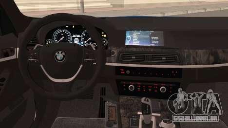 BMW 520 Comitê de Investigação para GTA San Andreas vista interior
