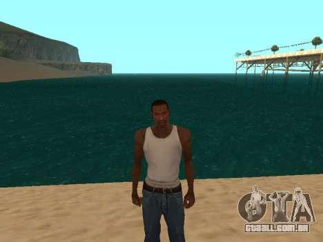 Verde escuro realista de água para GTA San Andreas segunda tela