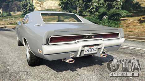 GTA 5 Dodge Charger RT SE 440 Magnum 1970 traseira vista lateral esquerda