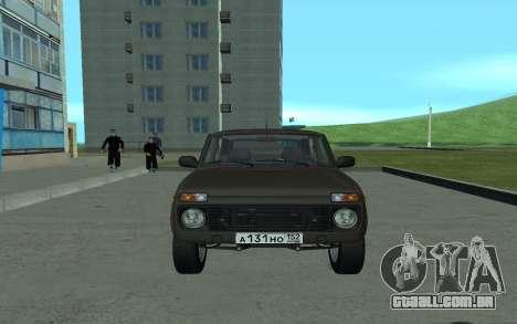 VAZ 21213 Niva para GTA San Andreas esquerda vista