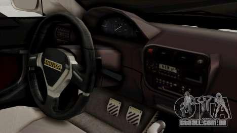 Honda Civic Sedan para GTA San Andreas vista direita