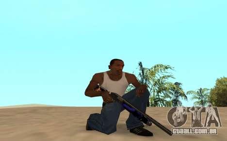 Espingarda com um filhote de tigre para GTA San Andreas por diante tela