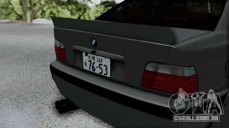 BMW M3 E36 Widebody v1.0 para GTA San Andreas vista traseira
