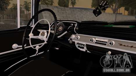 Chevrolet Bel Air Sport Coupe (2454) 1957 HQLM para GTA San Andreas vista direita