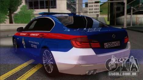 BMW 520 Comitê de Investigação para GTA San Andreas esquerda vista