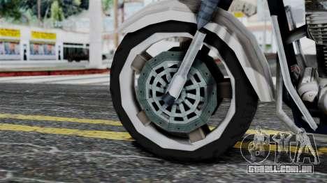 Bike Cop from Bully para GTA San Andreas traseira esquerda vista