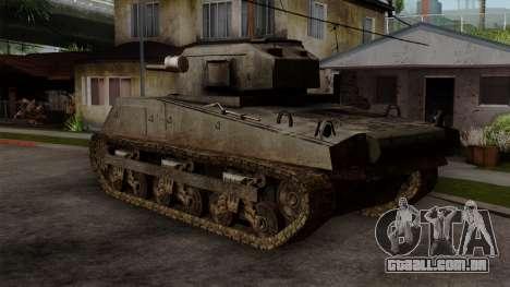 M4 Sherman from CoD World at War para GTA San Andreas esquerda vista