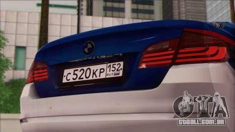 BMW 520 Comitê de Investigação para GTA San Andreas vista direita
