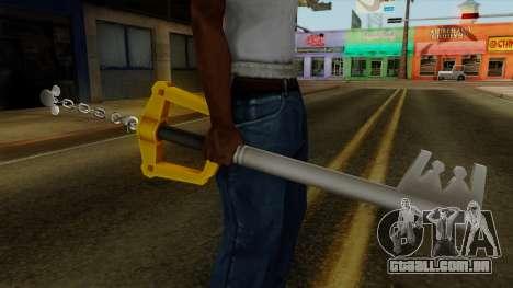 Kingdom Hearts - The Kingdom Key para GTA San Andreas terceira tela