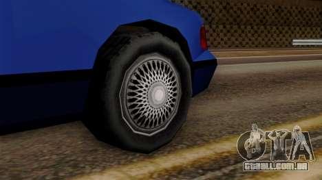 GTA 3 Premier para GTA San Andreas traseira esquerda vista