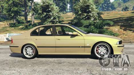 GTA 5 BMW M5 (E39) vista lateral esquerda