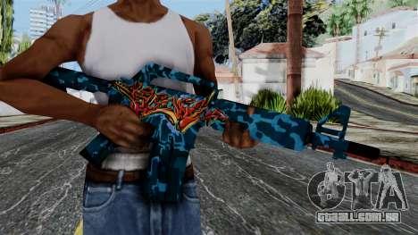 M4A1-S Master Piese para GTA San Andreas terceira tela