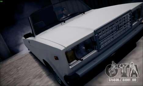 VAZ 2107 de limusina para GTA San Andreas traseira esquerda vista