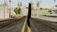 Novo faca ensanguentada