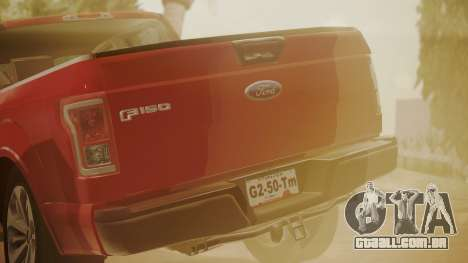 Ford F-150 2015 Stock para GTA San Andreas vista direita