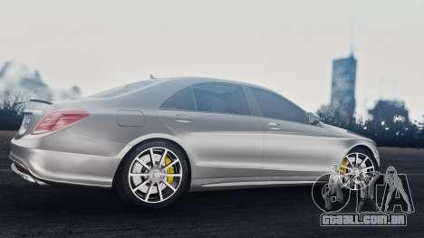 Mercedes-Benz W222 S63 AMG para GTA San Andreas vista traseira