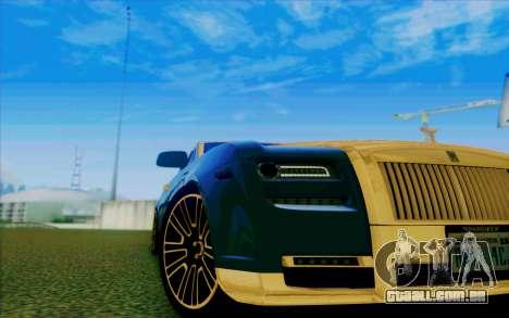 Rolls-Royce Ghost Mansory para GTA San Andreas vista superior