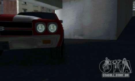 Chevrolet Chevelle SS [Winter] para GTA San Andreas traseira esquerda vista