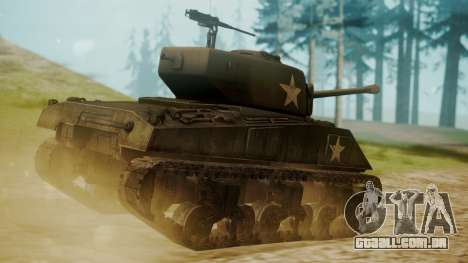 M4A3(76)W Sherman para GTA San Andreas esquerda vista
