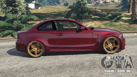 GTA 5 BMW 1M v1.3 vista lateral esquerda
