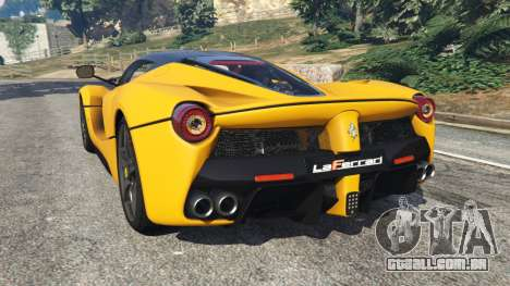 GTA 5 Ferrari LaFerrari 2015 vista lateral esquerda
