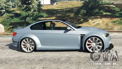 GTA 5 BMW M3 (E92) WideBody v1.0 vista lateral esquerda