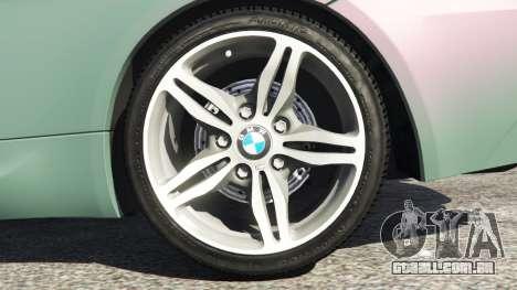 GTA 5 BMW M6 (E63) Tunable traseira direita vista lateral