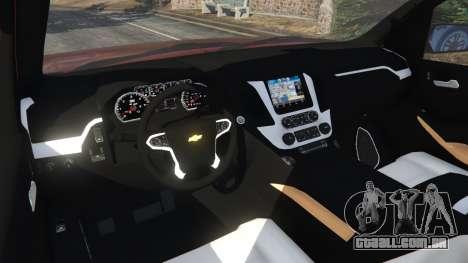 GTA 5 Chevrolet Suburban 2015 traseira direita vista lateral