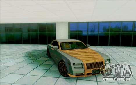 Rolls-Royce Ghost Mansory para GTA San Andreas interior
