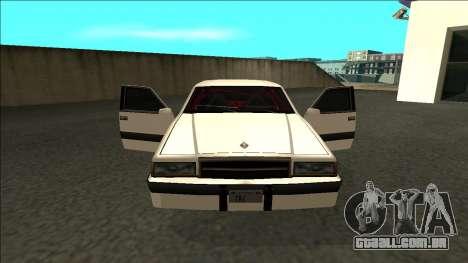 Willard Drift para GTA San Andreas vista interior