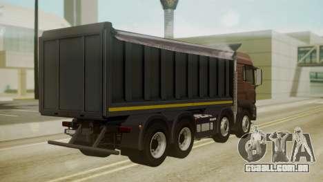MAN TGS 8x4 Dumper para GTA San Andreas esquerda vista