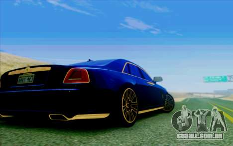 Rolls-Royce Ghost Mansory para GTA San Andreas vista interior