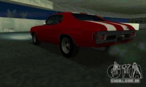 Chevrolet Chevelle SS [Winter] para GTA San Andreas esquerda vista