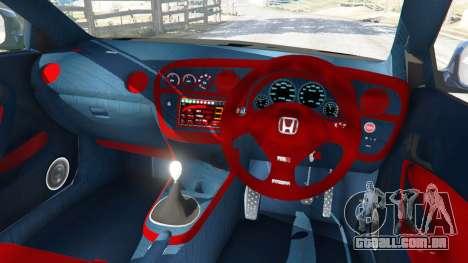 GTA 5 Honda Integra Type-R with license plate vista lateral direita