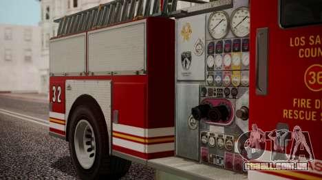 GTA 5 MTL Firetruck IVF para GTA San Andreas vista direita