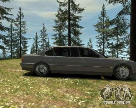 BMW L7 (750IL E38) 2001 para GTA 4 vista de volta