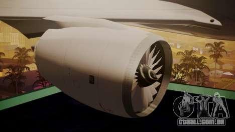 Airbus 350-900XWB Around The World para GTA San Andreas vista direita