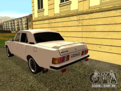 GAZ 3102 Volga para GTA San Andreas traseira esquerda vista