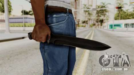 Knife from RE6 para GTA San Andreas terceira tela