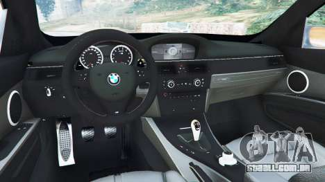 GTA 5 BMW M3 (E92) WideBody v1.0 traseira direita vista lateral