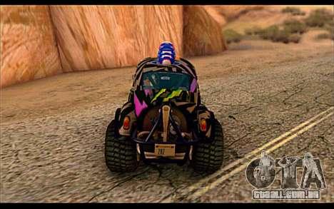 VW Baja Buggy Gymkhana 6 para GTA San Andreas vista direita