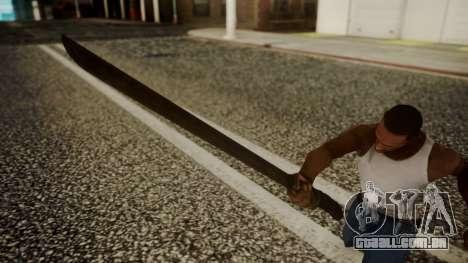 Machete from Friday the 13th Movie para GTA San Andreas terceira tela