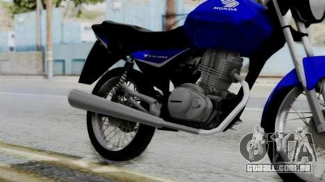 Honda CG Titan 2014 para GTA San Andreas vista direita